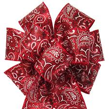 bandana bow country bows western bows wired country bandana bow 8 inch