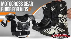 size 6 motocross boots motocross gear guide for kids chapmoto com youtube