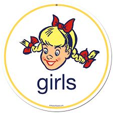 boys girls round vintage steel sign set retroplanet com