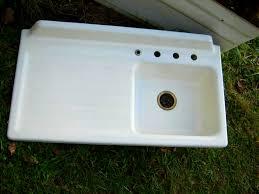 vintage cast iron sink drainboard kitchen handsome kitchen sinks new york salvage vintage cast iron
