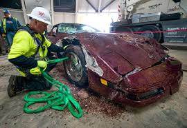 corvette museum collapse national corvette museum to restore 3 of 8 sinkhole vettes