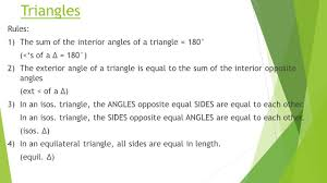 The Interior Angles Of A Triangle Always Add Up To Geometry Of 2d Shapes Chapter 12 Page Ppt Download