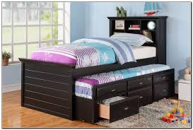 Black Twin Bed Twin Trundle Bed With Storage Black Twin Trundle Bed With