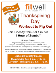 workout to pig out plus special hours fitwell