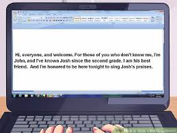 wedding wishes speech how to write a wedding speech 13 steps with pictures wikihow