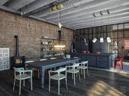 Industrial And Rustic Designs Resurfaced Kitchen Style Awesome Industrial Kitchen Designs With Brick Wall