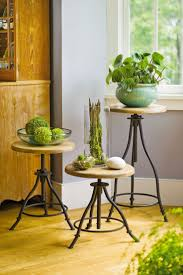 plant stand ikea hack simple wood slabnt stand and steel