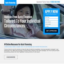 auto financing landing page design templates to boost your