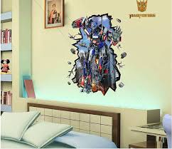3d transformer wall sticker boys room wall decals