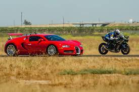 kereta bmw biru kawasaki h2r vs bugatti veyron supercar 1 2 mile airstrip race 2