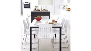 crate and barrel parsons dining table lovely ideas white parsons dining table inspiring parsons white top