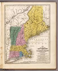 Map New England States by Map Of The New England Or Eastern States David Rumsey