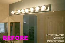 bathroom fixture light pneumatic addict bathroom upgrade part 1 splitting the vanity light