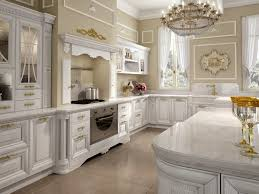 enchanting carving kitchen cabinet design features golden handle