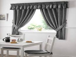 Gingham Kitchen by Black Drapes And Curtains Black And White Gingham Kitchen