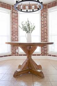 circle table that gets bigger round farmhouse dining table little red brick house