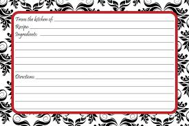 christmas recipe card template free editable christmas lights