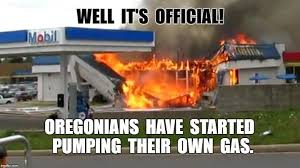 Gas Station Meme - memes poke fun at oregonians who don t want to pump their own gas