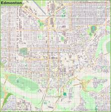 Edmonton Canada Map by Large Detailed Map Of Edmonton