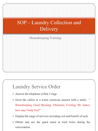 sops and functions of linen and laundry dept washing machine