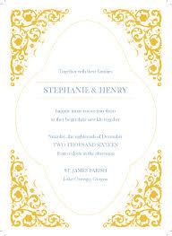 Invitation Programs Gold Wedding Invitation