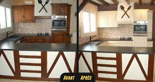 relooking cuisine avant apr鑚 cuisine relooking rustique cuisines relooker sa blanc casse