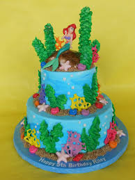 ariel under the sea birthday cake amy stella flickr