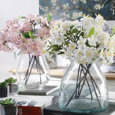 silk flowers for wedding artificial cherry blossom silk small flower bridal hydrangea home