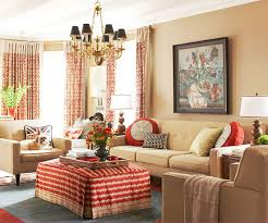 Pumpkin Colored Curtains Decorating Decorating With Color Cozy Color Schemes