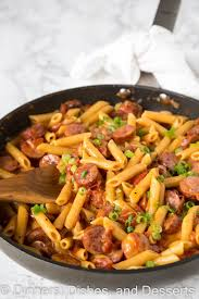 easy pasta recipes one pan cheesy sausage pasta dinners dishes and desserts