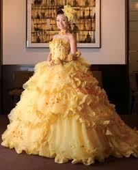 yellow wedding dress yellow wedding dress beauty and the beast