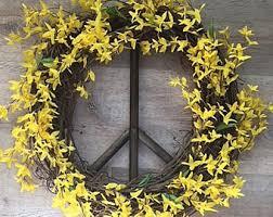 forsythia wreath forsythia wreath etsy