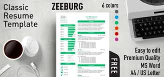 it resume template word free effective resume templates for ms word rezumeet