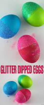 glitter dipped easter eggs frugal mom eh
