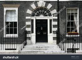 georgian architecture london england black door stock photo