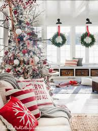 cozy ski lodge inspired christmas tour cozy holidays and red