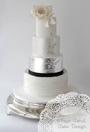 336 best silver cakes images on pinterest silver cake wedding