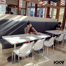 modern restaurant furniture indoor solid surface food court table