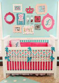 Pink And Blue Crib Bedding Lila U0027s Chevron Nursery Chevron Crib Bedding Nursery And Room