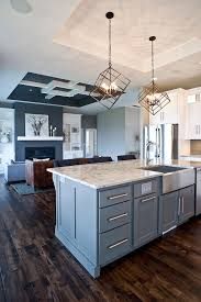 custom paint color gray island grey cabinetry custom cabinets