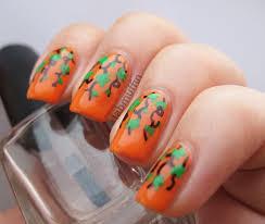 Halloween Nail Art Pumpkin - halloween nail art pumpkin vine waterfall lab muffin beauty