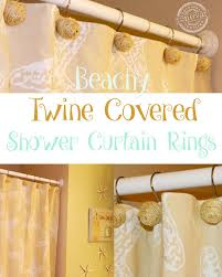 Beachy Shower Curtains How To Make Beachy Twine Covered Shower Curtain Hooks Hometalk