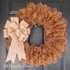 fall striped deco mesh wreath fall from all months decor