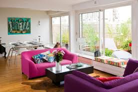Purple Livingroom by Living Room With Purple Sofa Pretty Choice Designs Ideas U0026 Decors