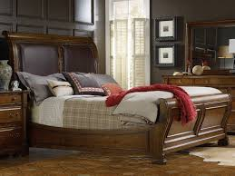Sleigh Bed Set Furniture Tynecastle Leather Sleigh Bed Bedroom Set