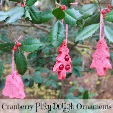 cranberry play dough ornaments