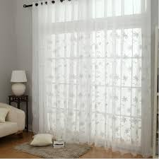 White Curtains Embroidery Flower Design White Sheer Curtains Buy White Sheer