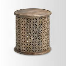 light wood end tables end tables designs artistic looked in brown round on top shape
