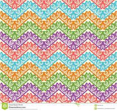 Zig Zag Reception Desk Colorful Zigzag Seamless Pattern Chevron Vector Background Stock