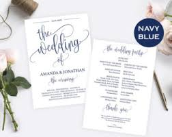 wedding programs instant download editable program program